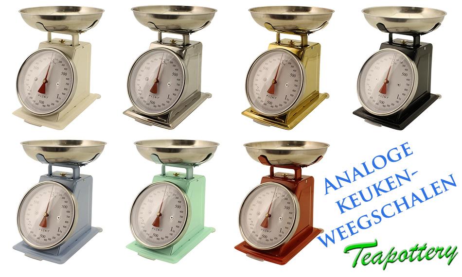 Analoge keukenweegschaal tot 3 kilo