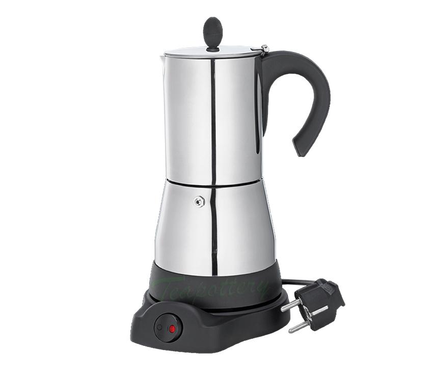 Elektrische espresso maker rvs 6 kops